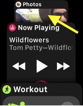 Apple Watch watchOS 4 Last Watch App Opened showing in Dock view