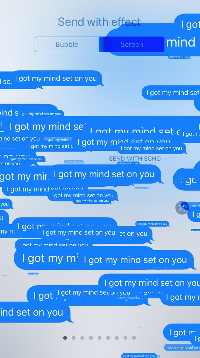 Messages Echo Effect