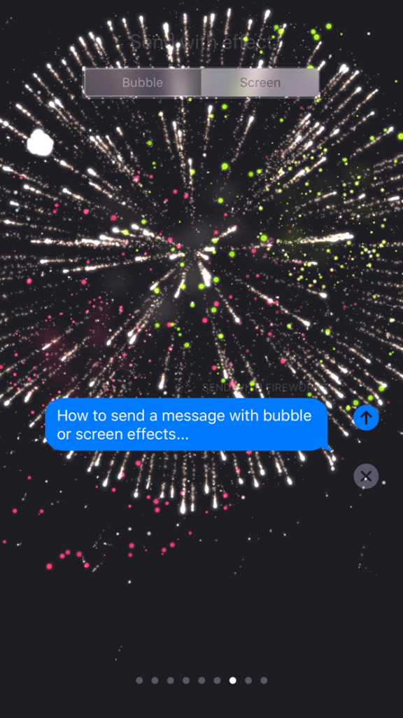 The fireworks screen effect delivers your message with (what else?)... fireworks!
