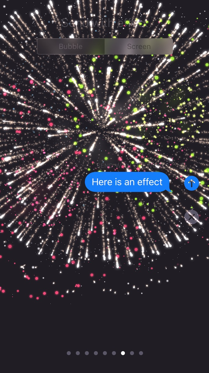 iOS 11 Messages Fireworks Effect