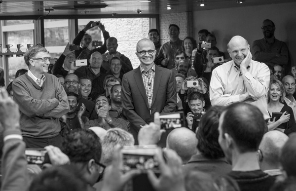 Nadella introduced as new CEO, February 2014.