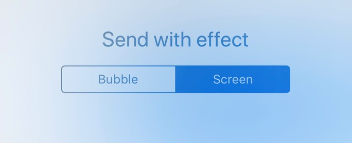 Messages Effects Tabs set to Screen