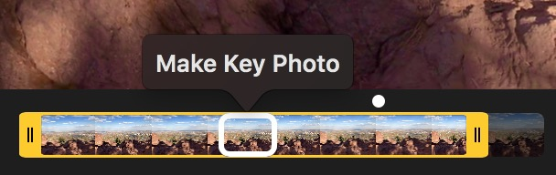 macOS High Sierra Live Photos editor Slider and Make Key Photo Tools
