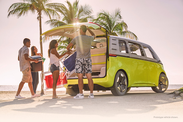 Volkswagen Bus at the beach