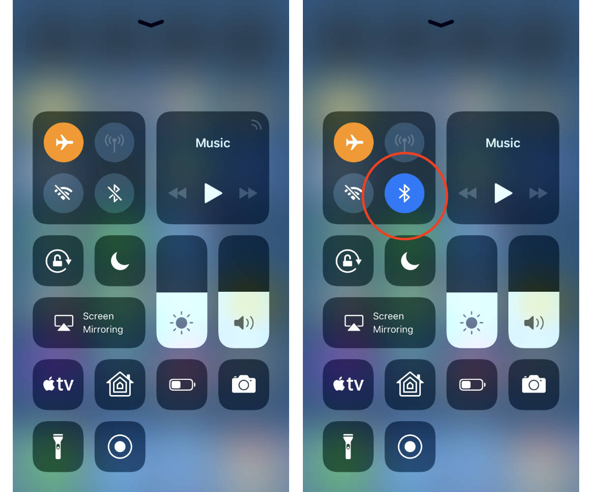 Airplane mode in iOS 11 showing persistent settings