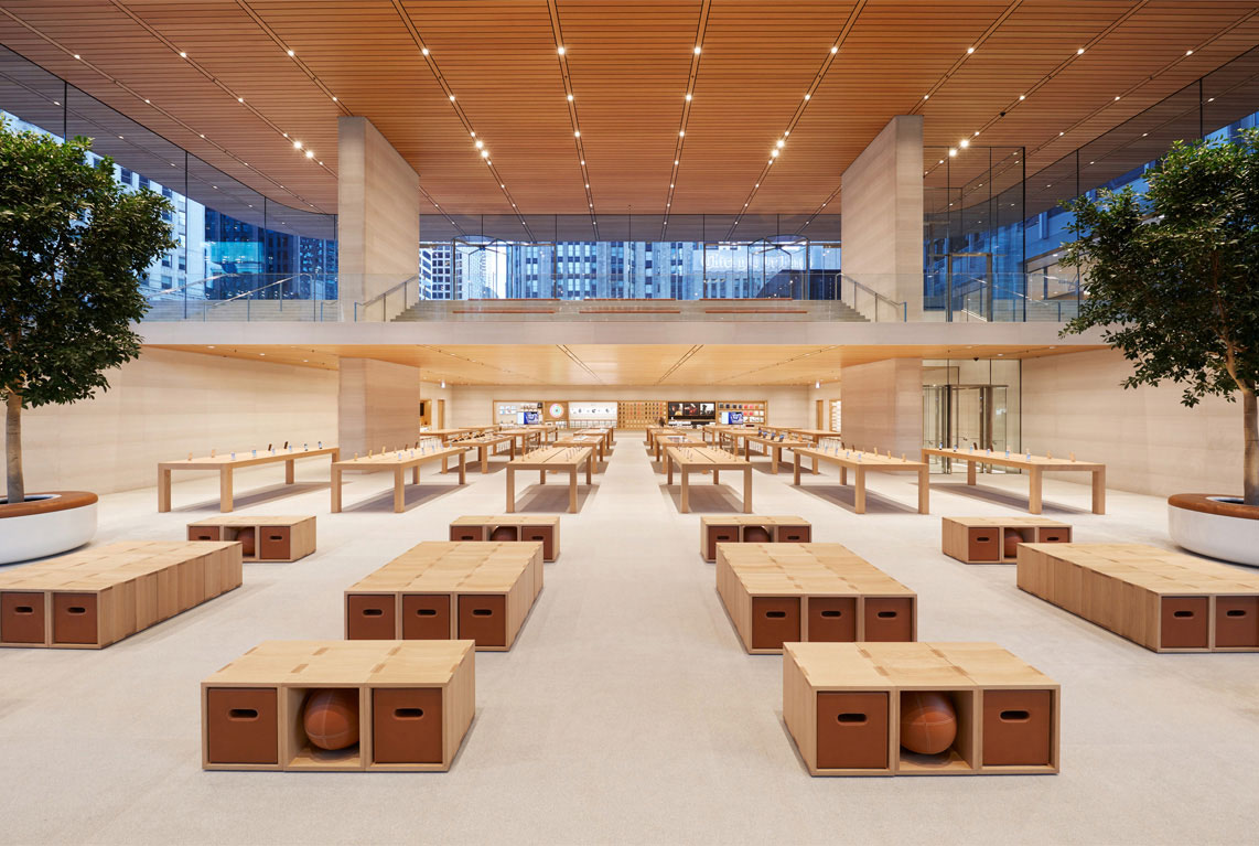Tables and Chairs at Apple Michigan Ave