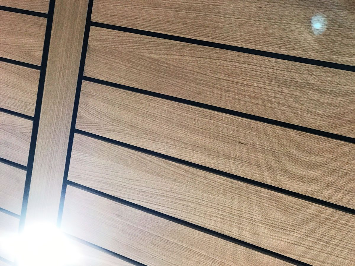 Perforated ceiling inside Apple Michigan Ave