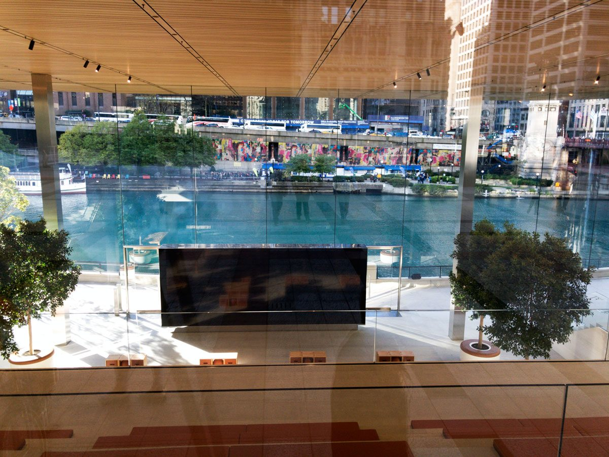 Looking through Apple Store Michigan before it opened