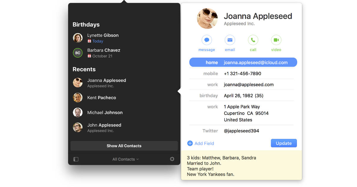 Cardhop Contact Manager for the Mac gets Smart Groups, More