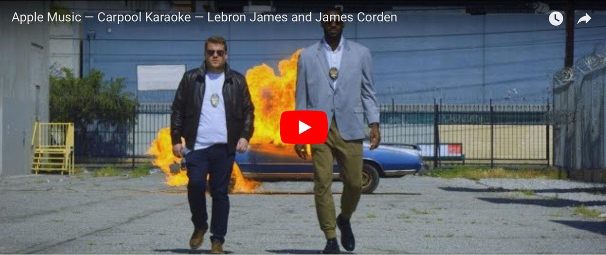 James Corden and Lebron James on Carpool Karaoke