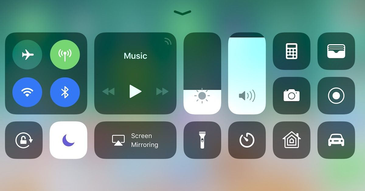 Customizing the iOS 11 Control Center