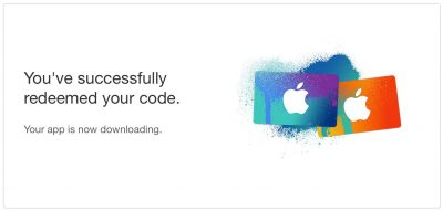 iTunes 12.7 App Store Download Code Confirmation