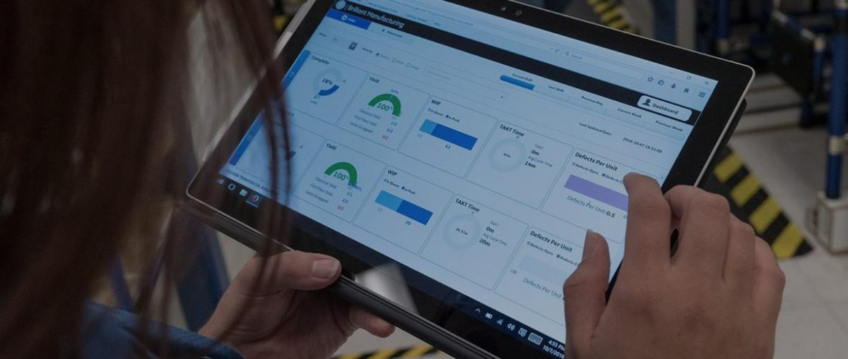 Predix App on a Windows Tablet, Courtesy of GE