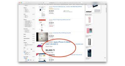 iPhone X on Ebay