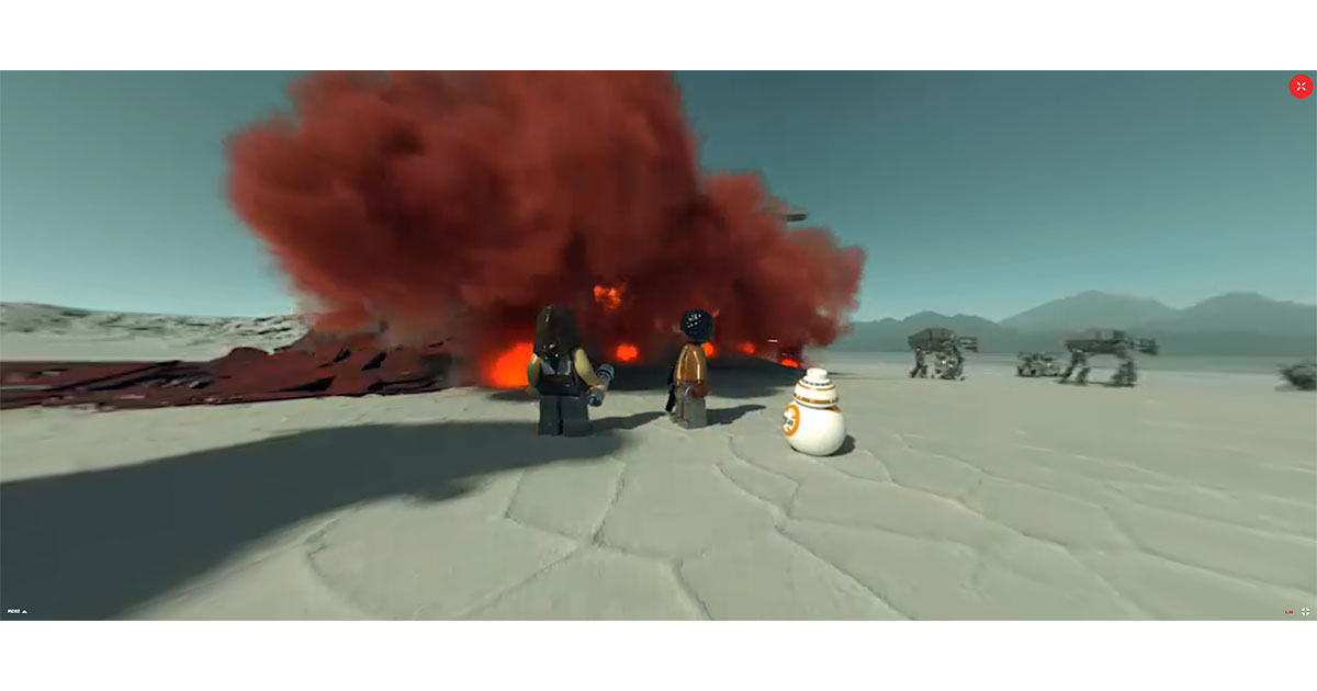 Want to Dive Into a 3D LEGO Star Wars World? Check Out The Last Jedi 360 Experience