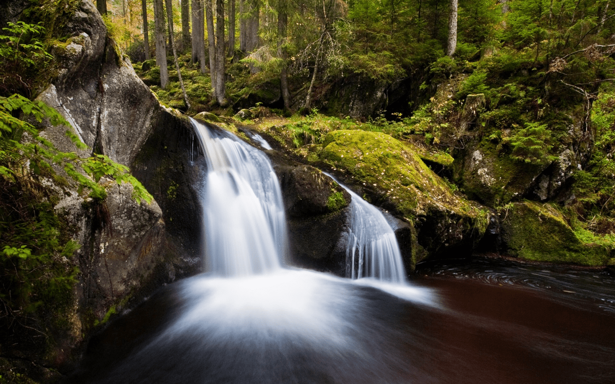 Long exposure Live Photo effect on a waterfall.