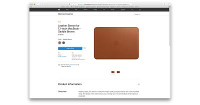 12-inch MacBook Leather Sleeve
