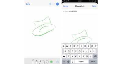 iOS 11 Mail in-app drawing tools