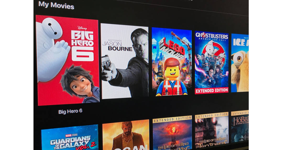 Apple TV movie list