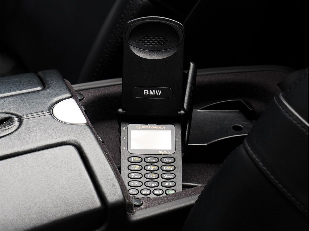 The BMW-Branded Motorola Flip-Phone that Came with Steve Jobs's BMW Z8 (Courtesy of Sotheby's)