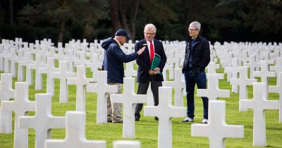 Tim Cook at Normandy American Cemetery and Memorial