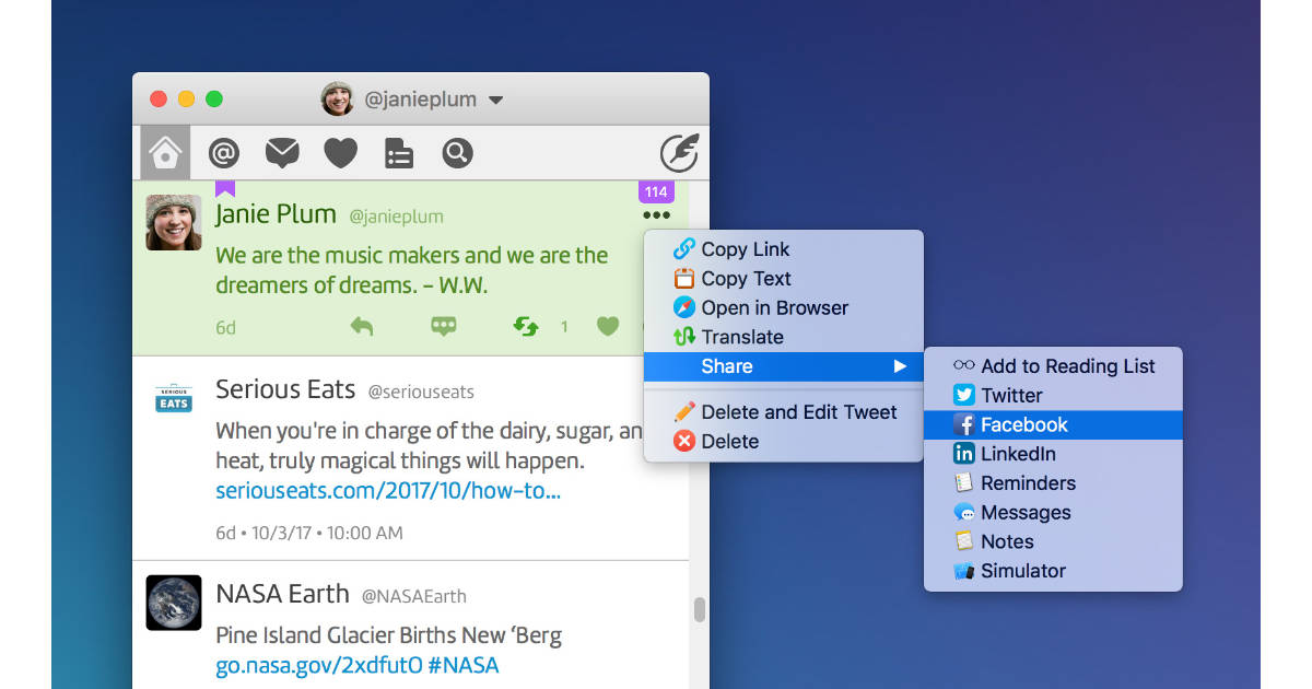 Twitterific 5 for the Mac