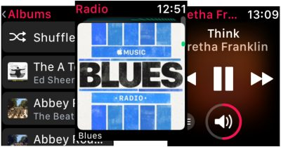 watchOS 4.1 Music and Radio apps on Apple Watch