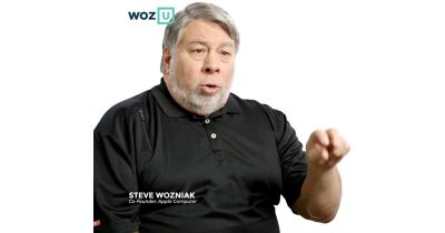 Steve Wozniak on the front page of Woz U