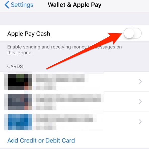 Apple Pay Cash - Setup Step 2