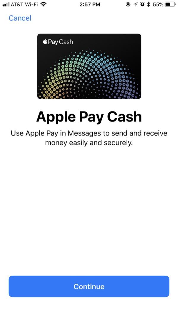 Apple Pay Cash - Setup Step 3