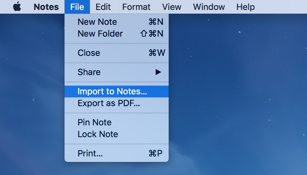 You can add Stickies to Notes as a text file using the Import to Notes option
