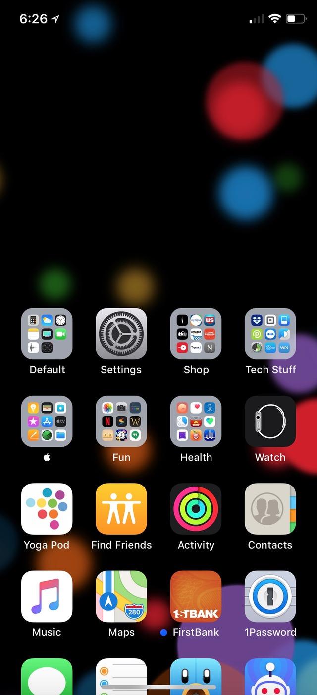 Swipe down on iPhone X to turn Reachability On