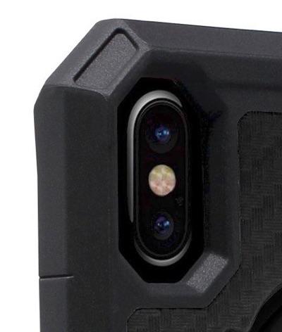 Protection around camera lenses.