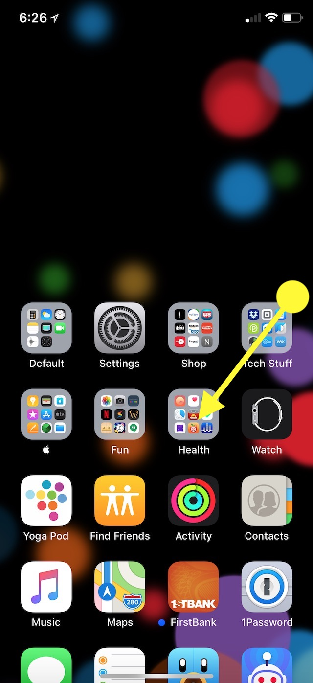 Drag down from screen Edge to show Control Center with Reachability on