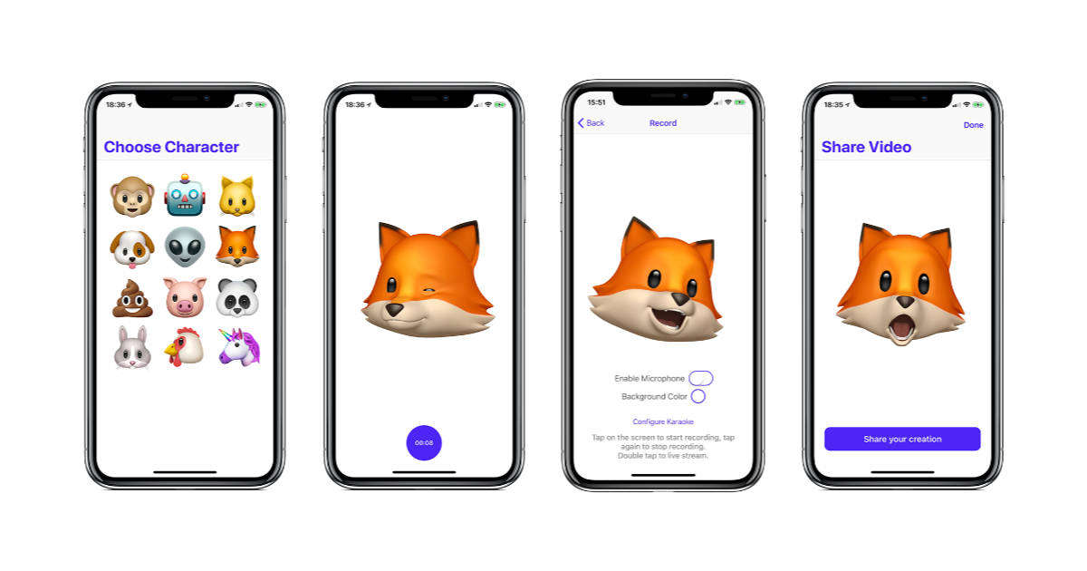 Record and Live Stream Animoji with AnimojiStudio