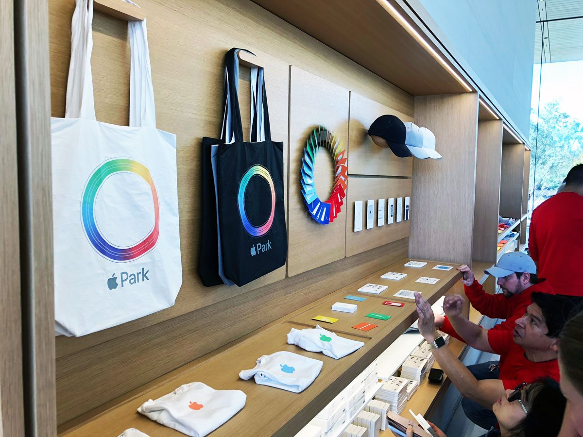 Bags, Hats, and Baby Clothes at the Apple Park Visitor Center