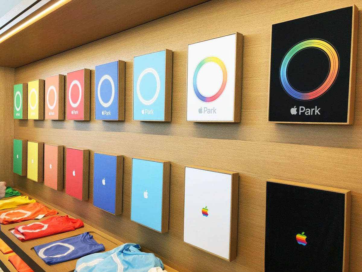 Apple shirts at Apple Park Visitor Center