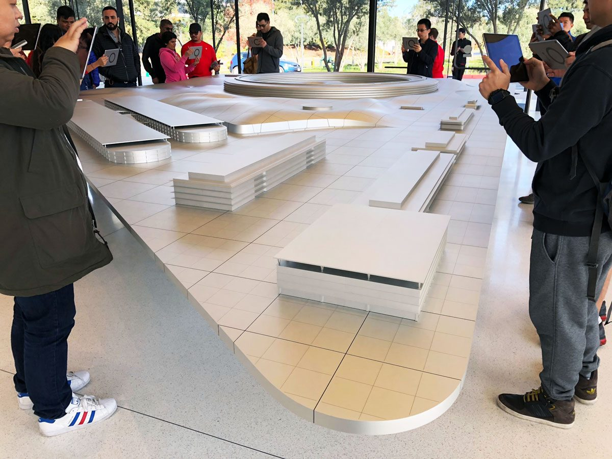 Apple Park Scale Model at the Visitor Center