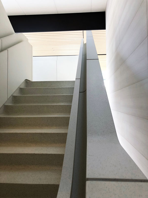 The stairs at Apple Park Visitor Center