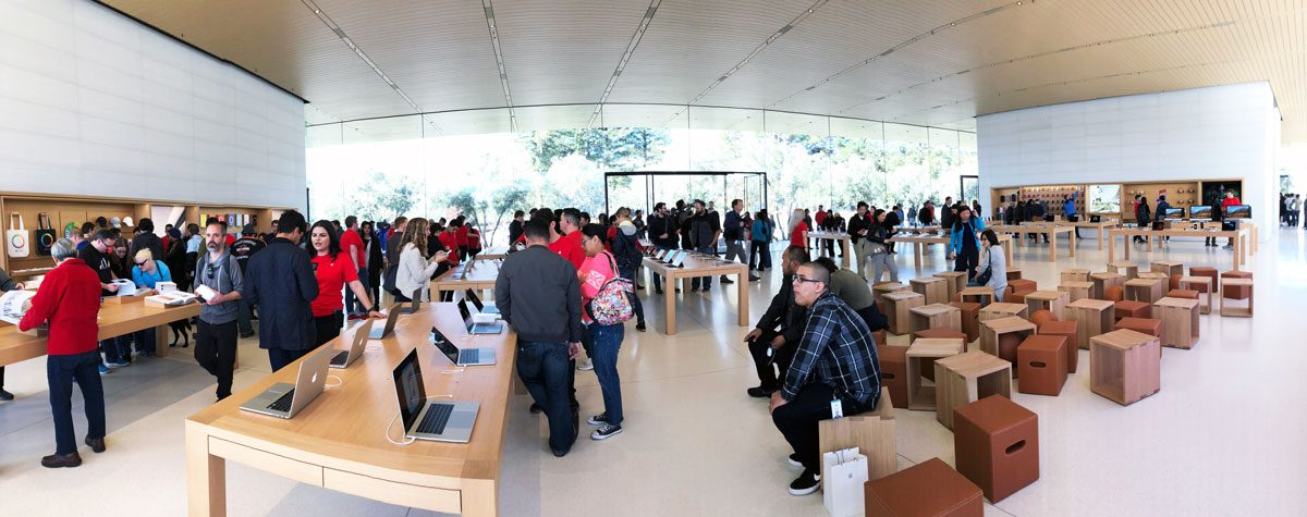 The Retail Area of Apple Park Visitor Center