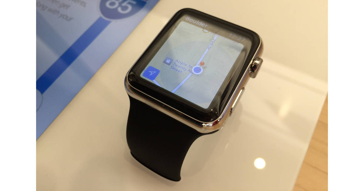Original Apple Watch showing Maps app