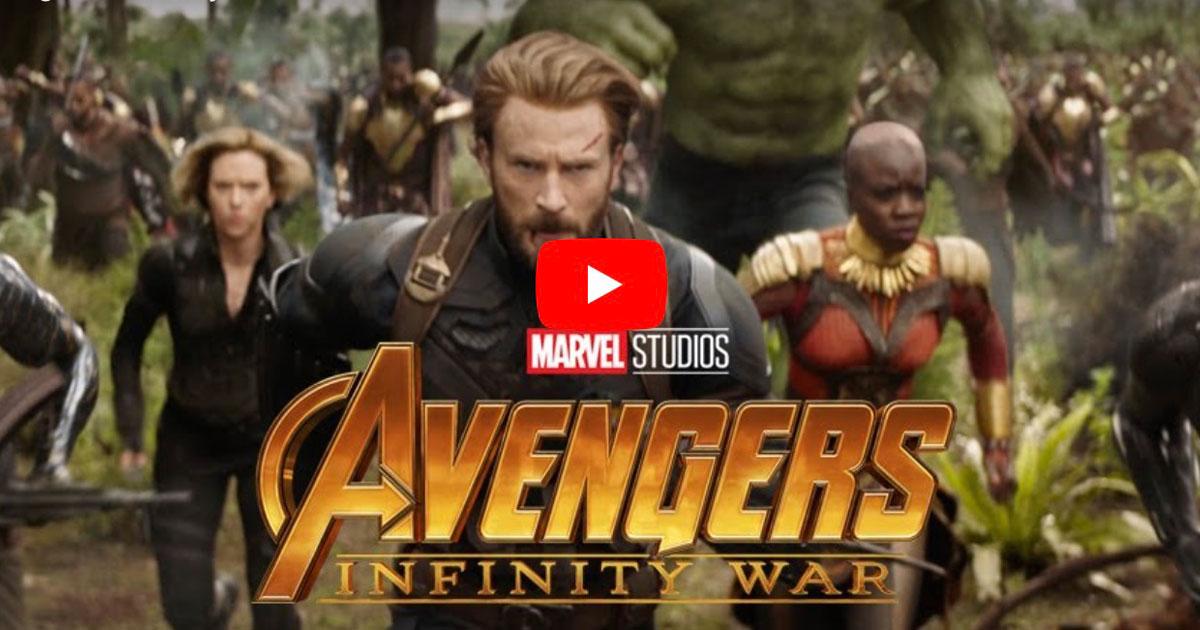Screenshot from Avengers: Infinity War Trailer