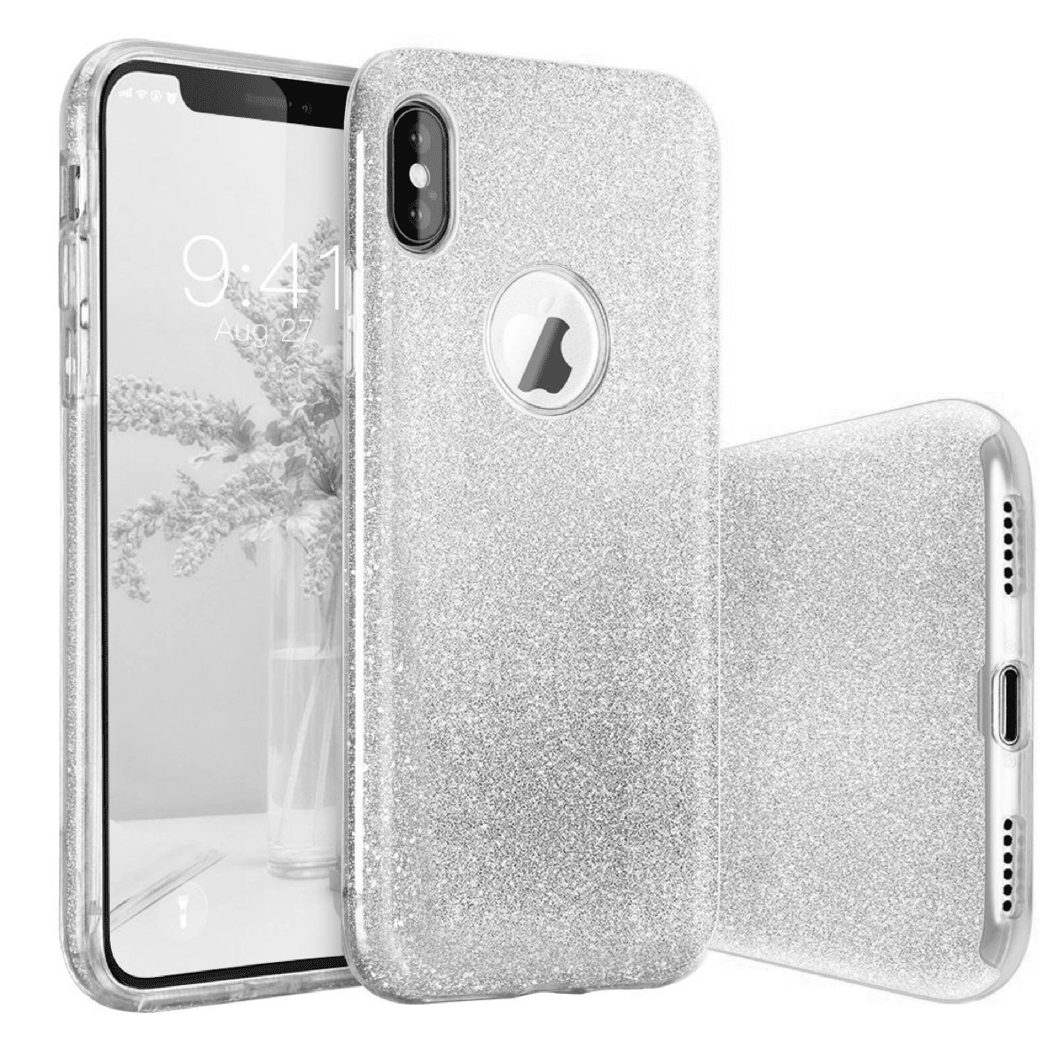 Basstop glitter iPhone X bling cases