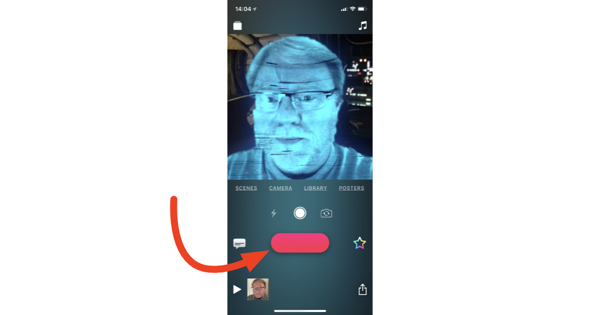 Clips 2.0 selfie video recording on iPhone X