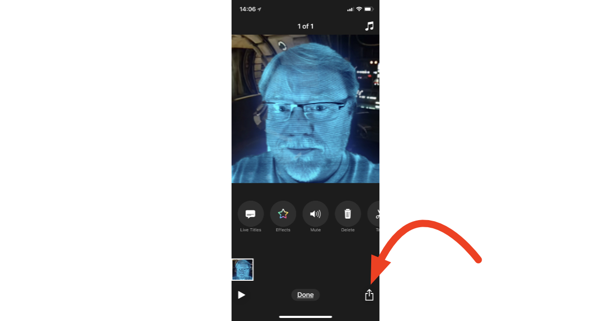 Clips 2.0 Share option for sending videos to social networks and friends
