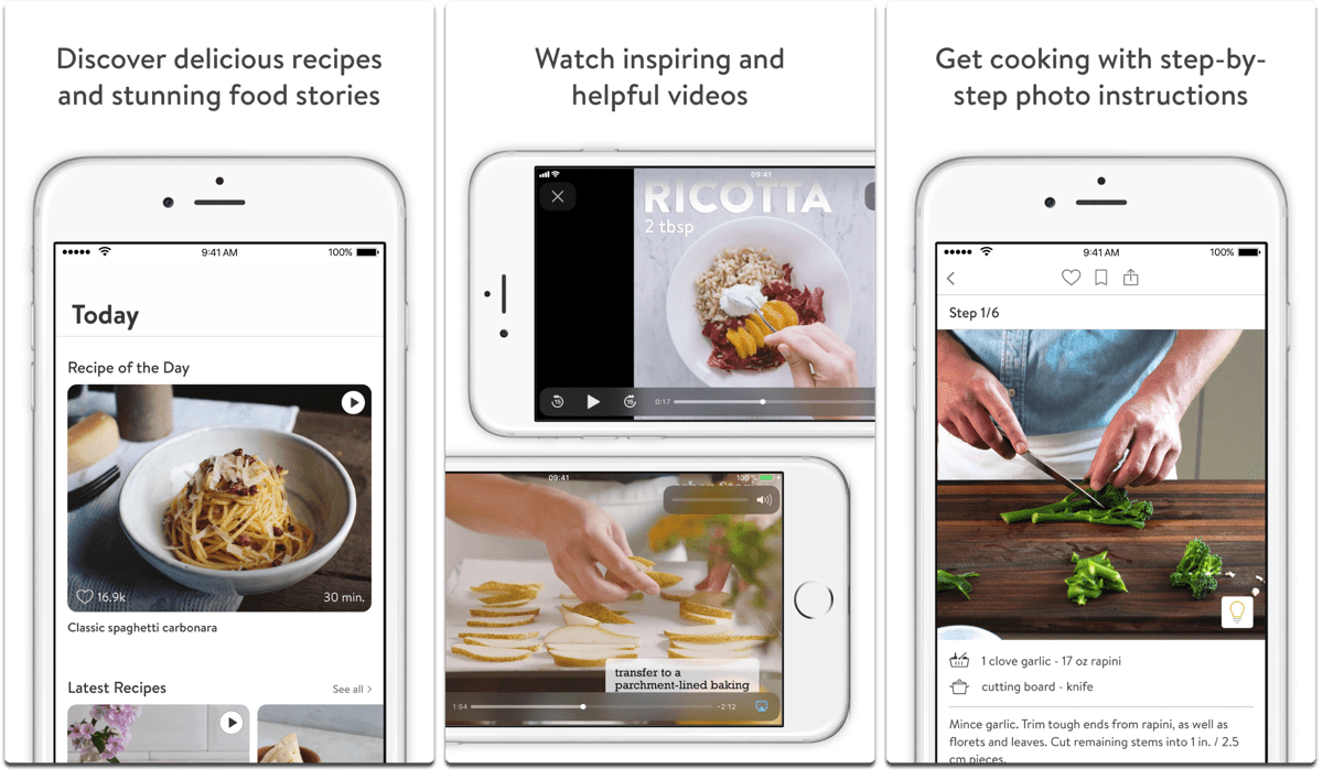 Screenshots of Kitchen Stories, one of the cooking apps.