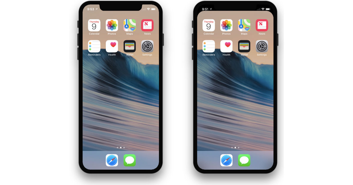 This Wallpaper Hides the iPhone X Notch