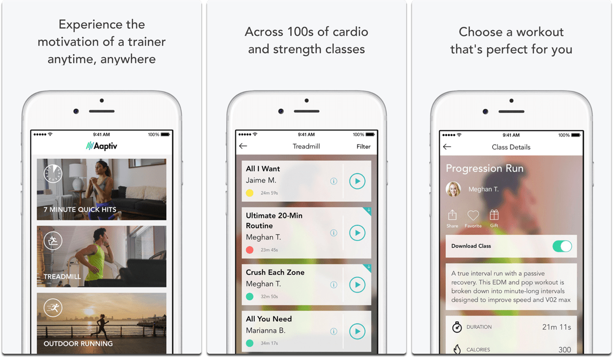 Aaptiv is one of the fitness apps on the App Store.