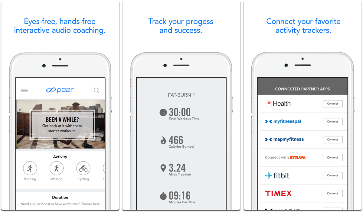 Pear personal fitness coach, one of the fitness apps.