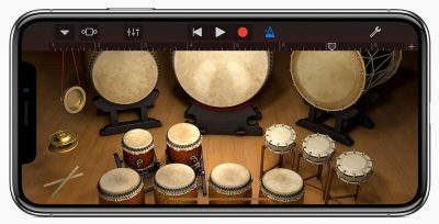 Taiko Drums on iPhone X